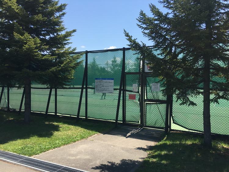 川下公園、テニスコート