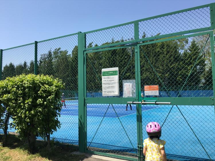 農試公園 テニスコート オムニ