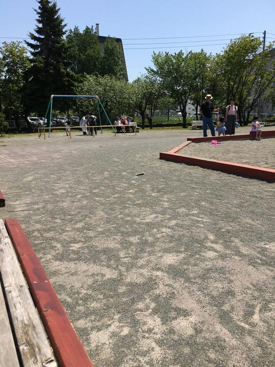 農試公園 遊具と砂場