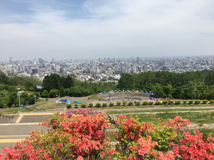 旭山記念公園 展望台からの景色