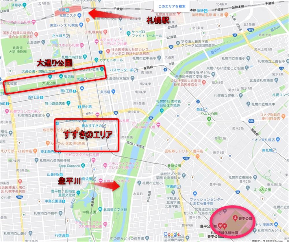 豊平公園 地図